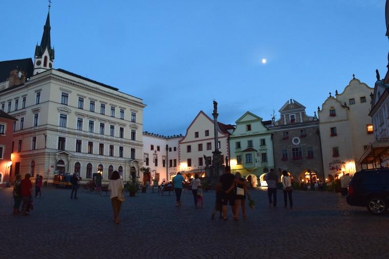 Praça central Cesky Krumlov República Tcheca