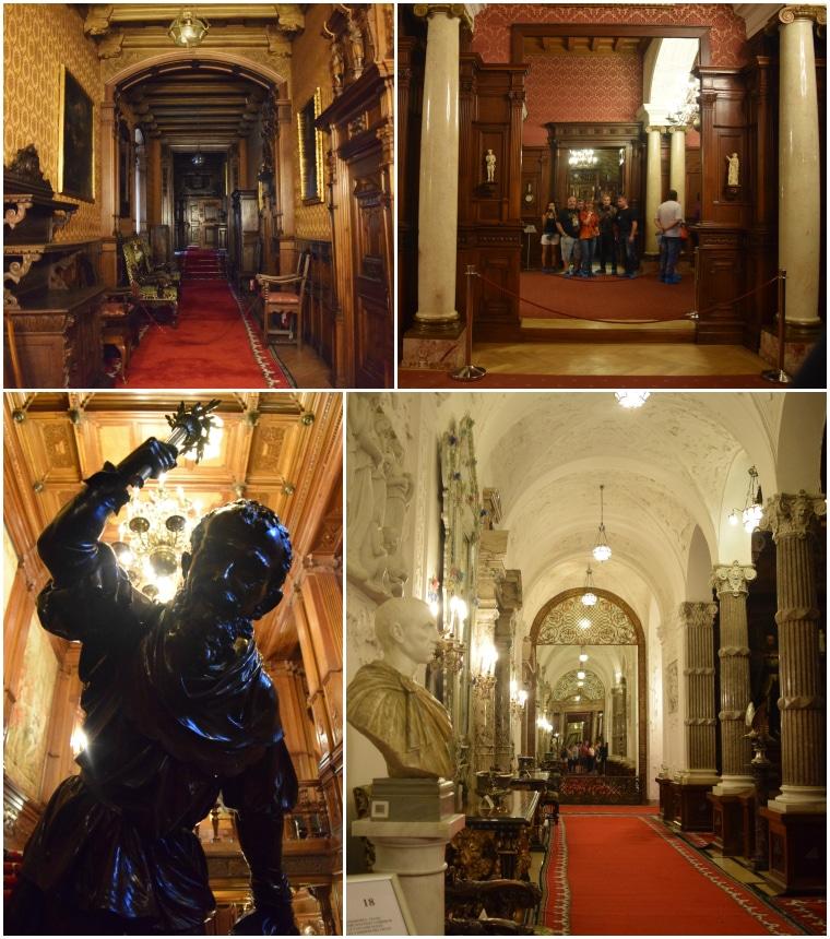 castelo de peles sinaia romênia corredores
