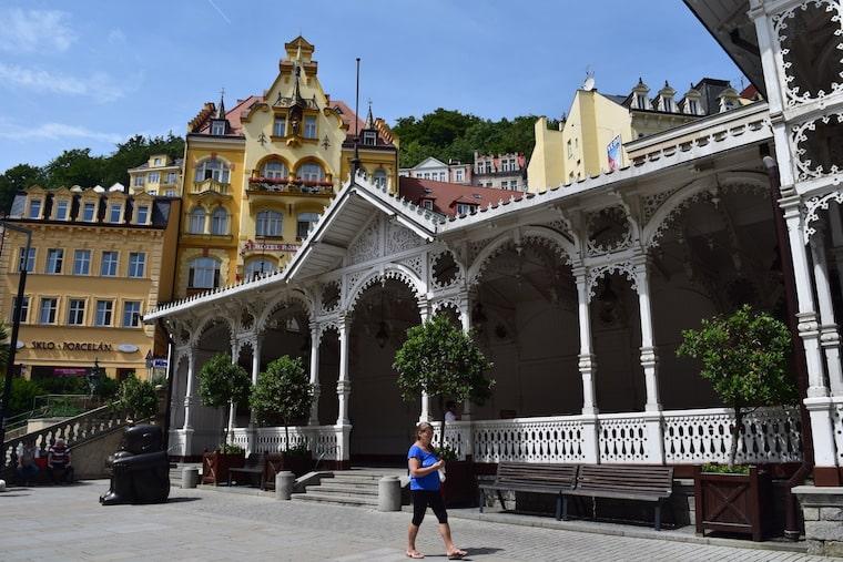 colunata do mercado karlovy vary república Tcheca