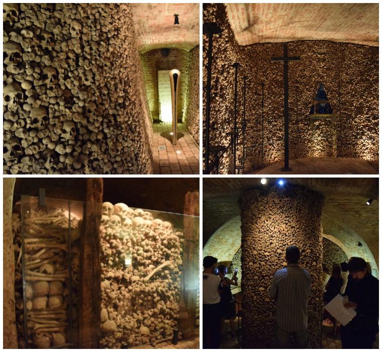 ossos no ossuário de brno republica tchca
