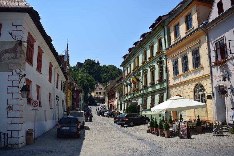sighisoara vlad tepes transilvania romenia rua hoteis