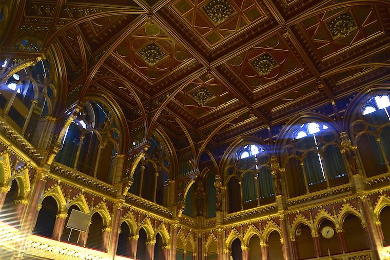 parlamento de budapeste teto old hall