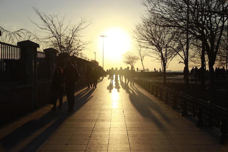 Por do sol em Istambul, Turquia