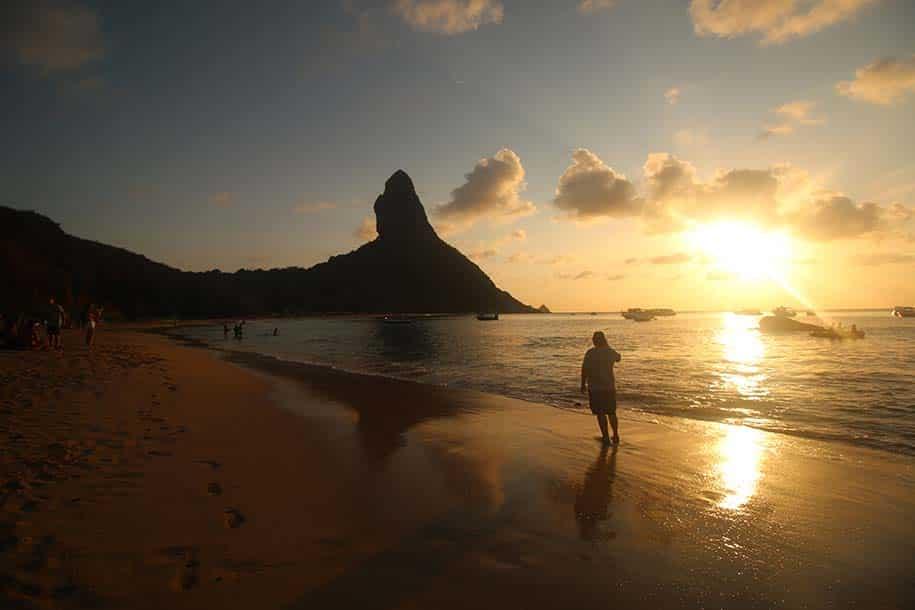 Praia da Conceição no pôr do sol