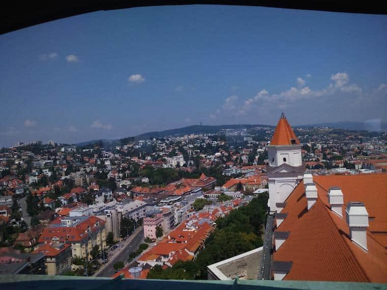 vista do castelo de bratislava