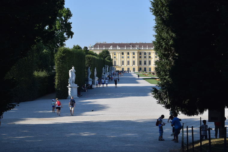 Palácios Imperiais de Viena jardins