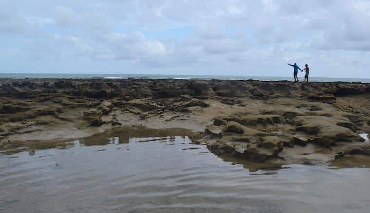 caminhar nos recifes