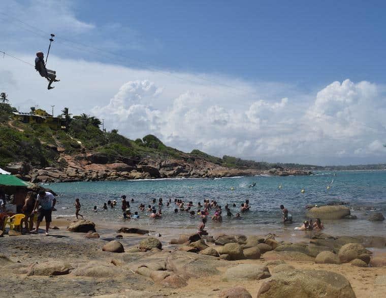 praias de pernambuco brasil calhetas tirolesa