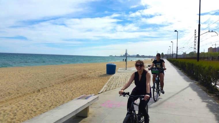 Rota em Bicicleta de Barcelona a Badalona