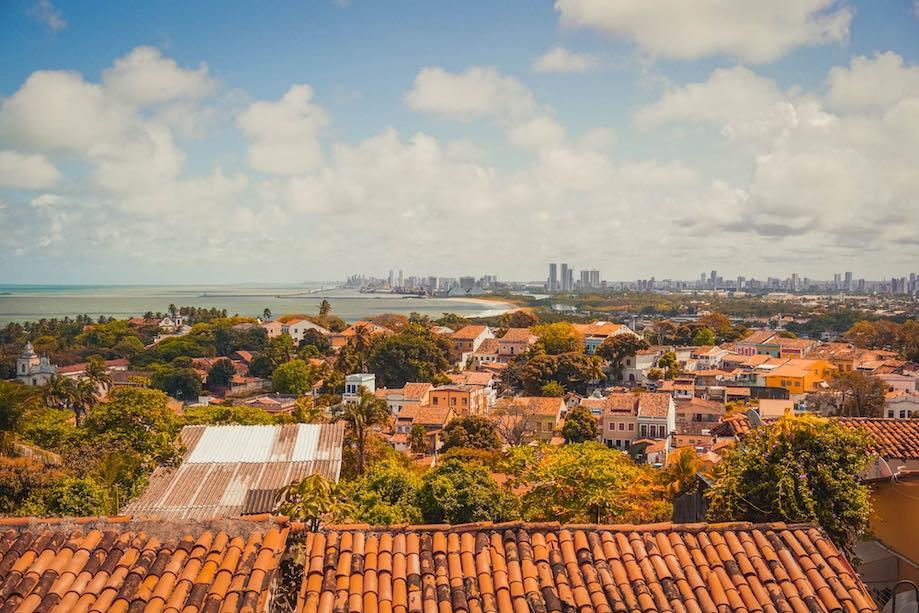 O que fazer em Olinda: Vista do Recife a partir do mirante da Caixa dágua