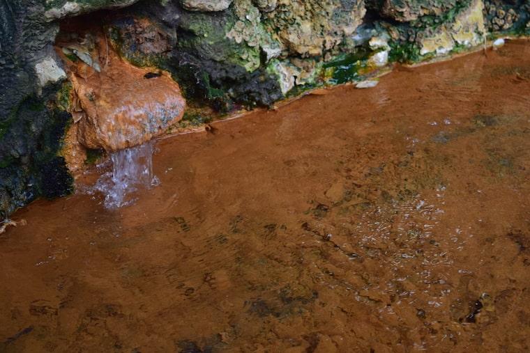lagoa de furnas açores agua vermelha