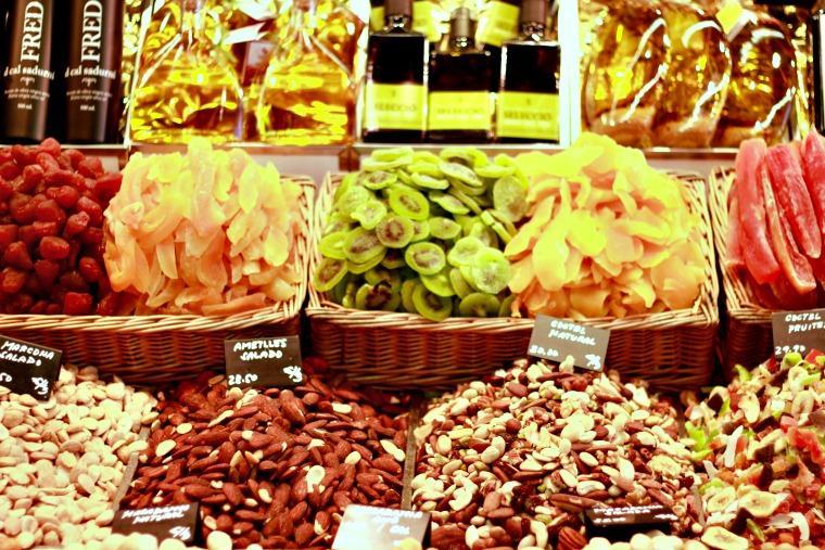 Barracas Mercado de la Boqueria Barcelona