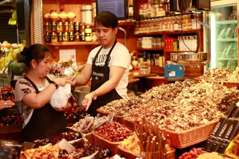 Frutos do Mercado de La Boqueria Barcelona