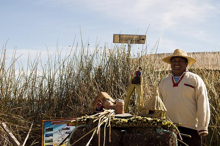 Ilhas Flutuantes de Uros, no Peru