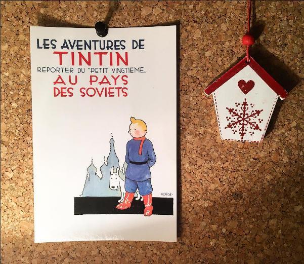 postal tintim bruxelas quadrinhos