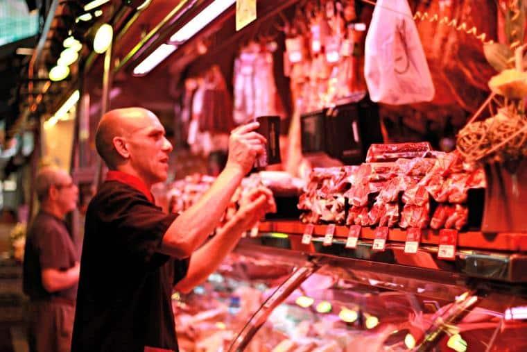 persunto ibérico - Mercado de la Boqueria - Barcelona