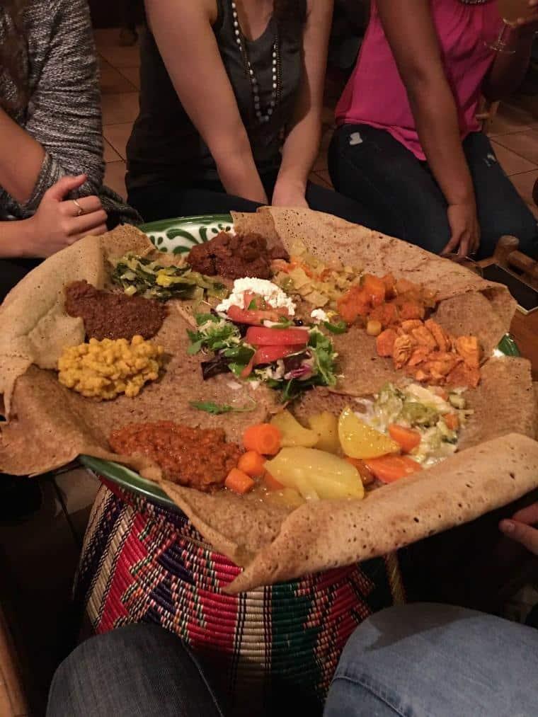 Restaurante etíope em Barcelona