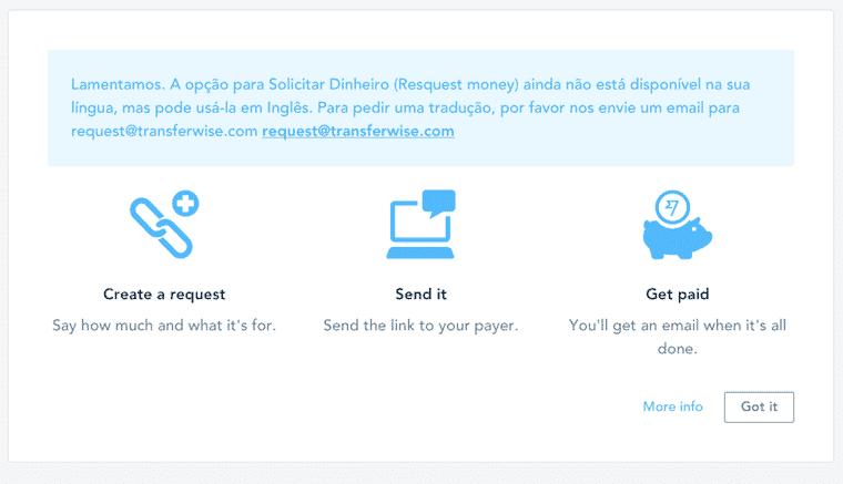 transferwise enviando o dinheiro para quem