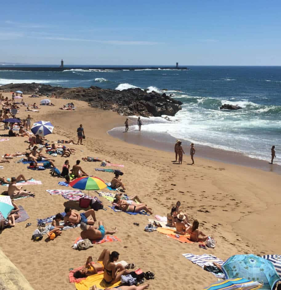 praia dos ingleses foz do douro porto