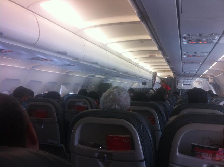 Voo da Avianca para Lima, no Peru