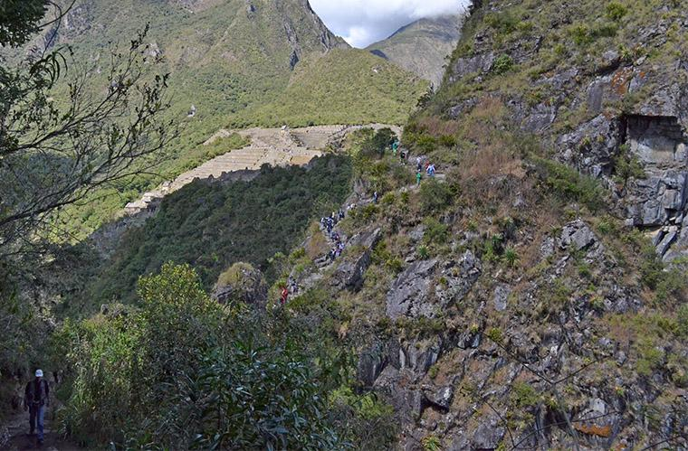Huayna Picchu, trilha