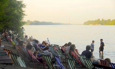 Római Part, uma praia às margens do Danúbio, em Budapeste