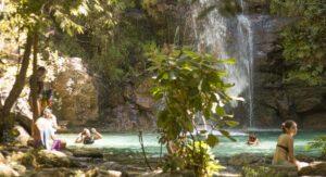 Cachoeira Santa Bárbara, joia da Chapada dos Veadeiros