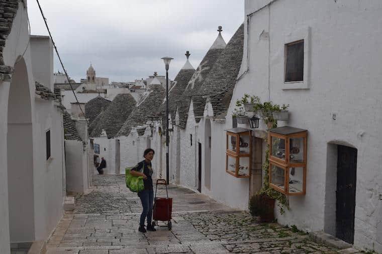 Alberobello casas Trulli moradores