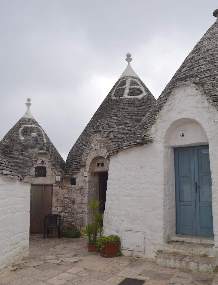 Alberobello e as casas Trulli simbolos