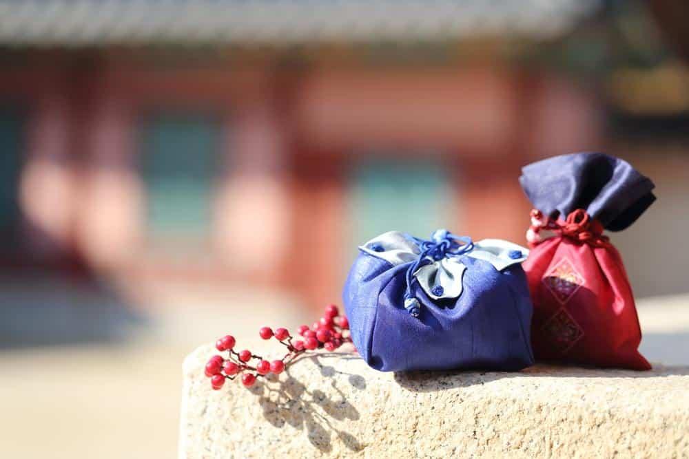Pacotes boa sorte típicos do ano-novo sul coreano