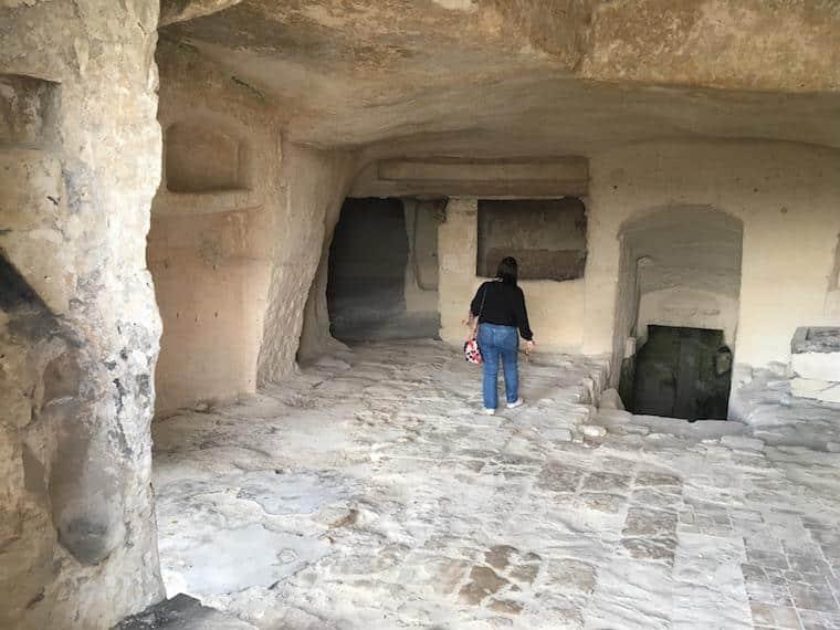 matera italia sassi caverna e mae