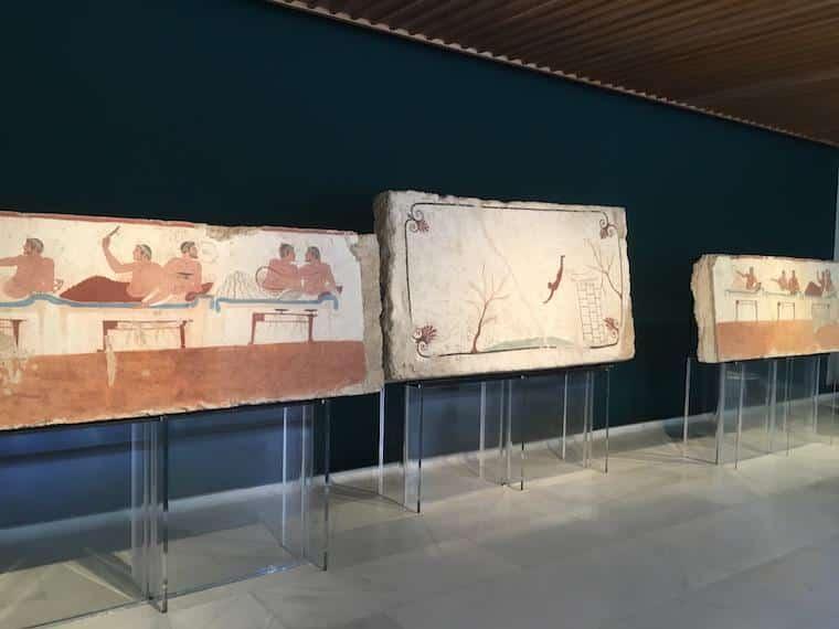paestum italia diver tomb