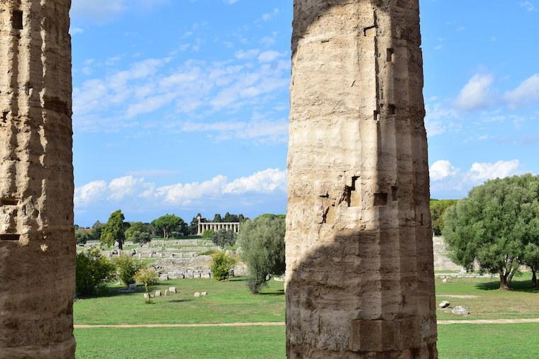 paestum italia vista area arqueologica