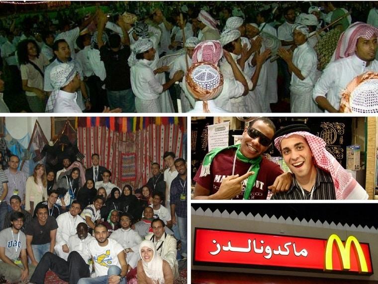 1-Evento de integração na Arábia Saudita