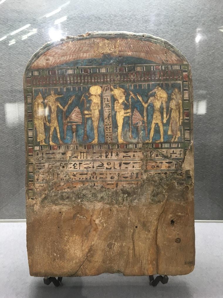 Castelo Sforzesco em Milão inscrição egipcia
