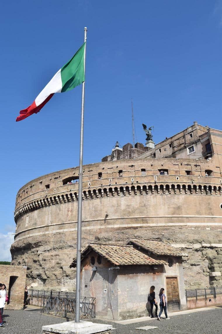 castelo de santo angelo vista bandeira