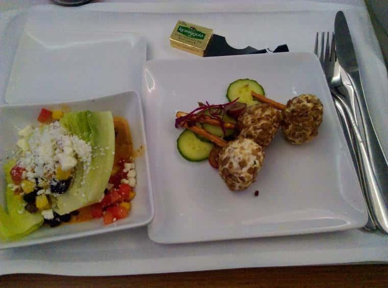 comida de avião, American Airlines