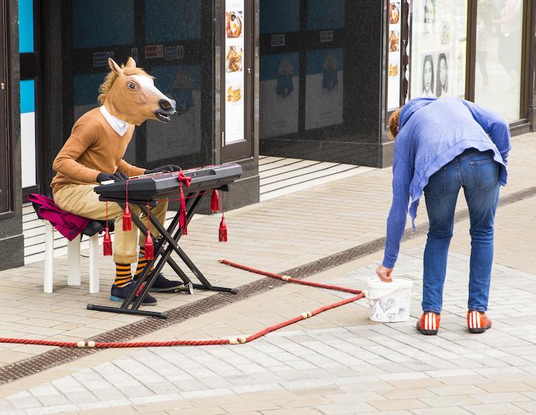 artista de rua inglaterra