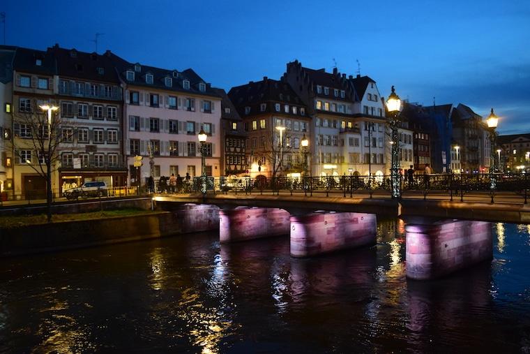 o que fazer em estrasburgo frança ponte noite