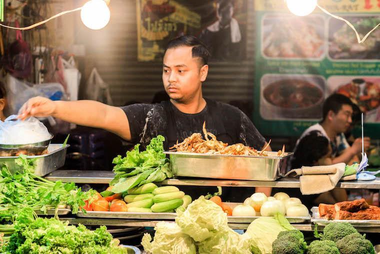 Comida de rua na Tailânia