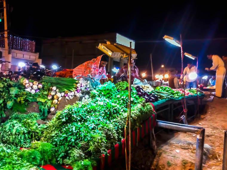 Mercado local na Índia