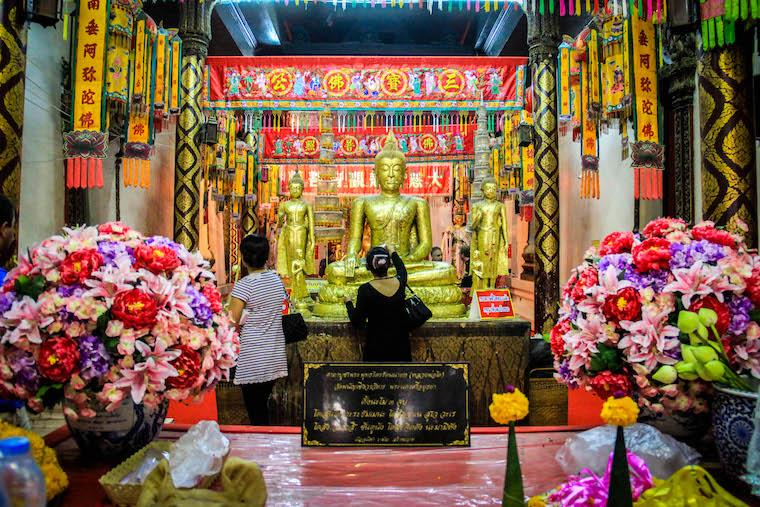 Templo do Buda Dourado em Ayutthaya