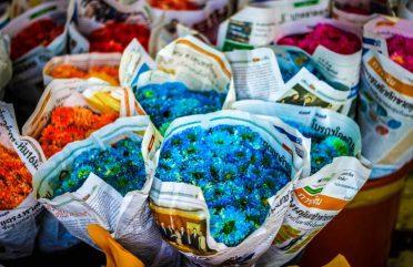 O Mercado das Flores de Bangkok, na Tailândia