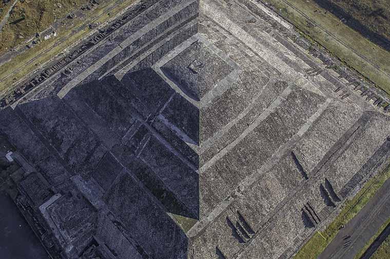 Teotihuacan, no méxico