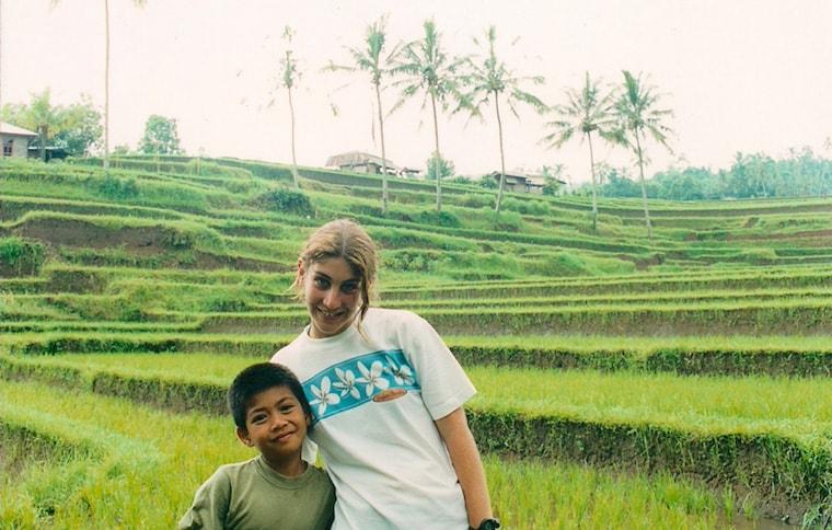 Arrozal em Bali
