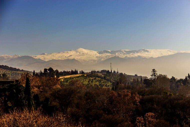 Vista da Serra Nevada desde Alhambra