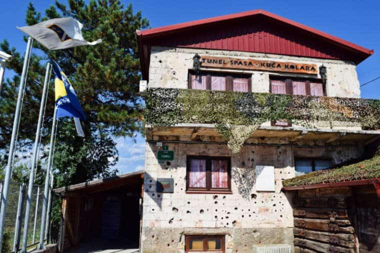 guerra da bosnia entrada tunel da esperanca