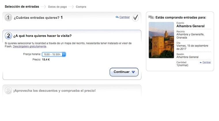 Ingressos Alhambra