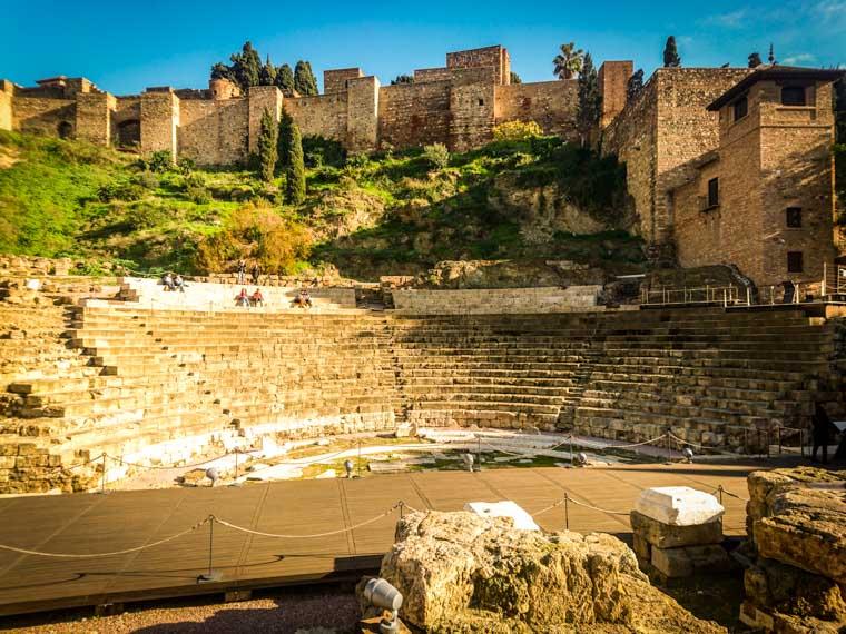 O que fazer em Málaga: Teatro Romano