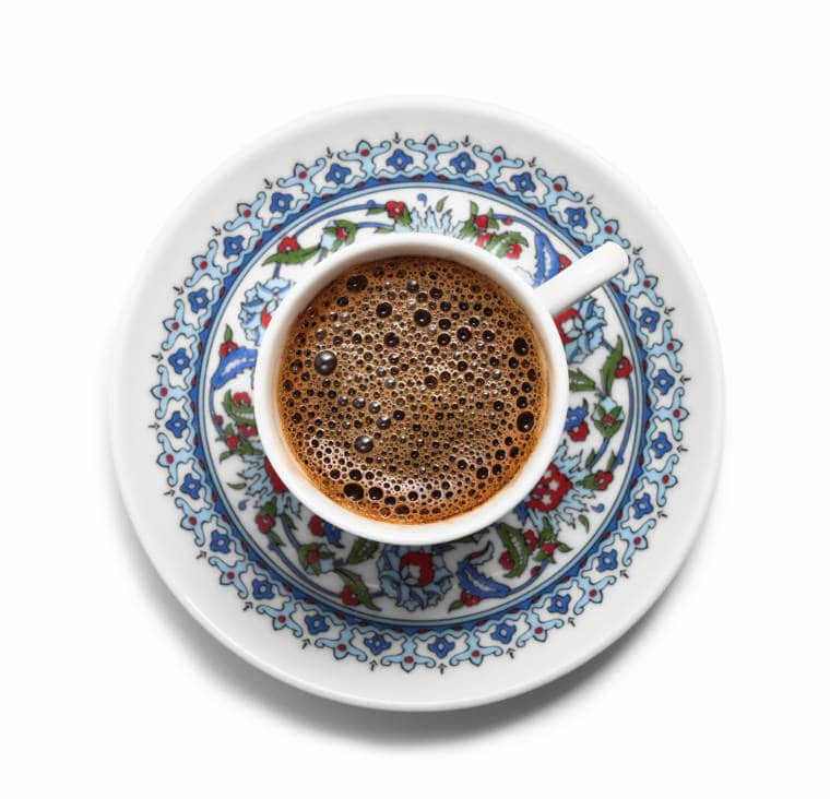 cafe turco espuma